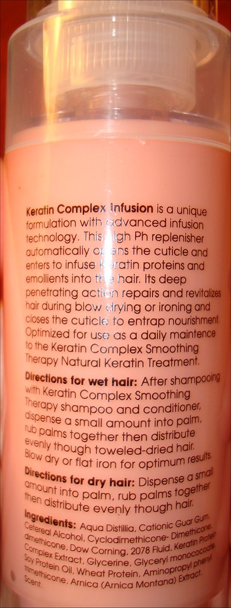 Coppola Keratin Complex Infusin Therapy Ingredients
