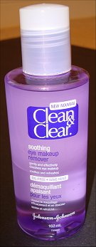 Clean & Clear Soothing Eye Makeup Remover Bottle