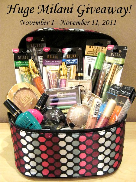 Milani Giveaway on Swatch And Learn November 1 to November 11, 2011