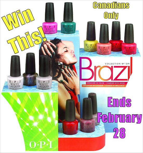 OPI Brazil Collection Giveaway SwatchAndLearn
