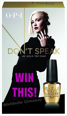 OPI Don't Speak 18K Gold Top Coat Giveaway