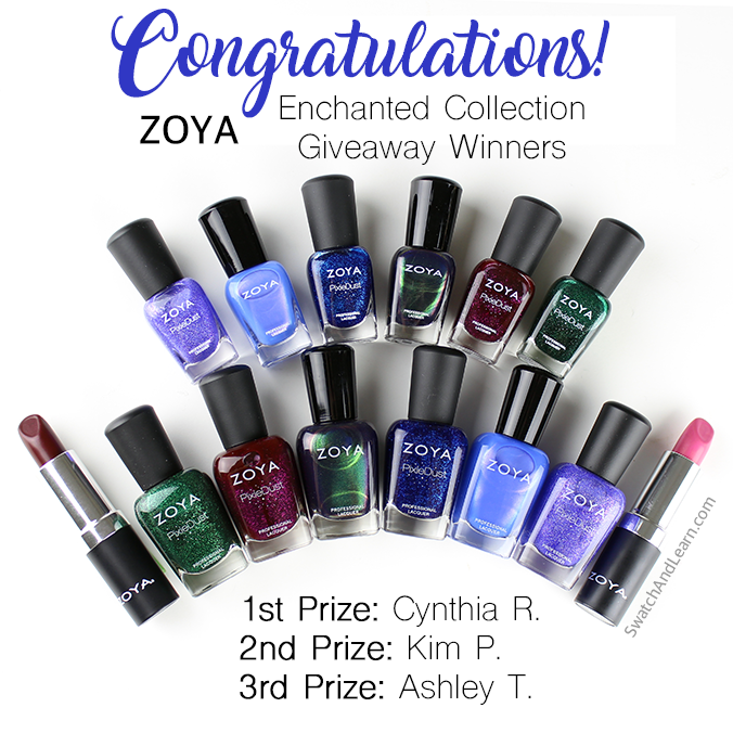 Zoya Enchanted Collection Giveaway Winners