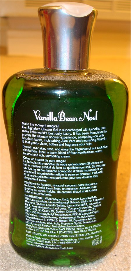 Bath Amp Body Works Vanilla Bean Noel Shower Gel Review Amp Pictures Swatch And Learn