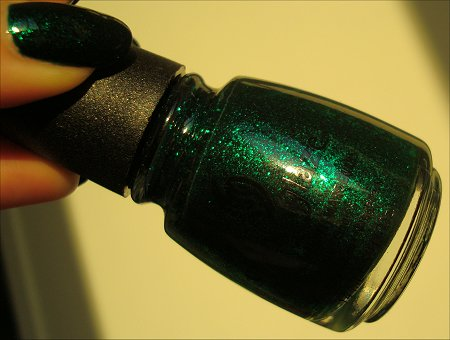 China Glaze Emerald Sparkle Bottle