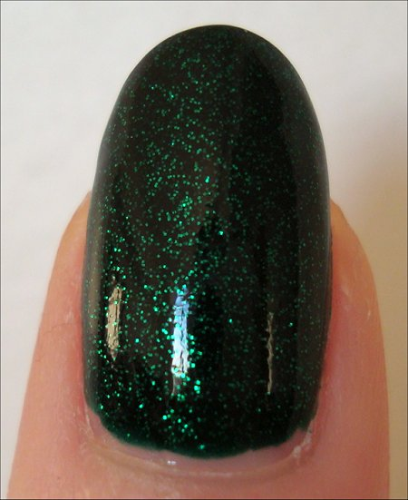 China Glaze Emerald Sparkle Swatch