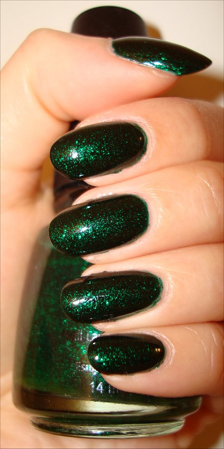 China Glaze Emerald Sparkle Swatches