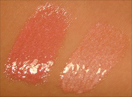 NYX Mega Shine Lip Gloss Swatches Pink Frost & Salsa