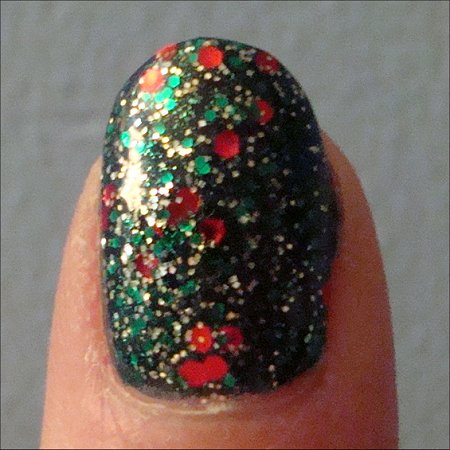 China Glaze Party Hearty & Orly Meet Me Under the Mistletoe Swatch