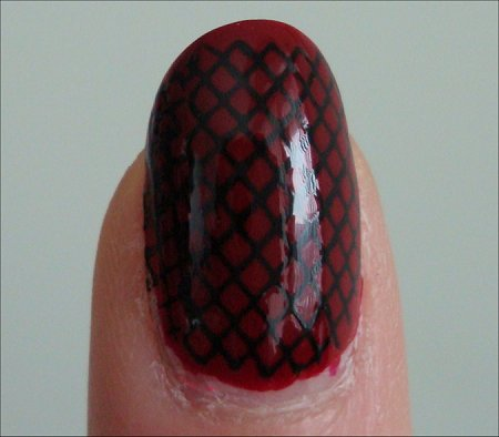 Black & Red Konad Fishnet Swatches