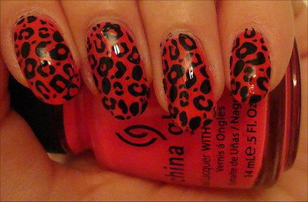 Konad Nail Art Stamping Kit Leopard Swatches