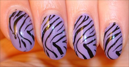 Konad Purple Zebra Print Swatches