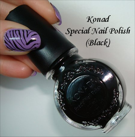 Konad Special Polish Black Swatches