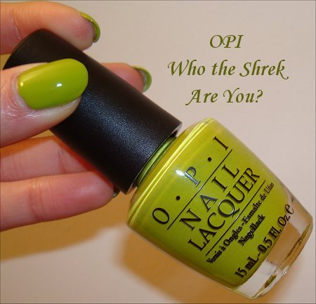 OPI Who the Shrek Are You Swatch