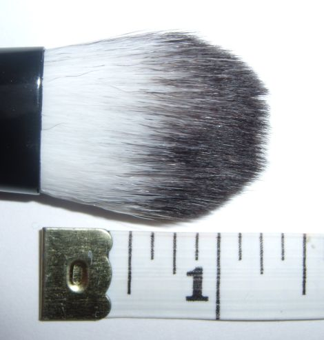 Crown Makeup Brushes on Crown Luna Bk9 Deluxe Oval Foundation Brush Review   Pictures   Swatch