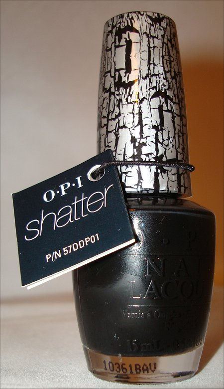 OPI Black Shatter Pictures