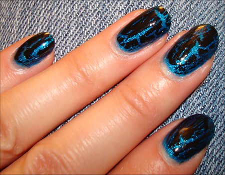 OPI Black Shatter Swatch