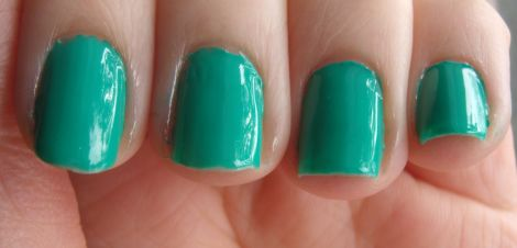 e.l.f. Essentials Nail Polish Teal Blue Swatch