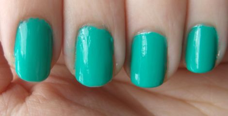 e.l.f. Nail Polish Teal Blue Swatches