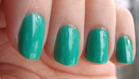 e.l.f. Nail Polish Teal Blue Swatch