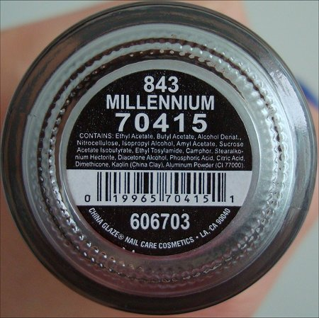 China Glaze Millennium Ingredients