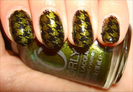Konad Hoodstooth Manicure Orly It's Not Rocket Science Swatch