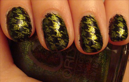 Orly Its Not Rocket Science Swatch Houndstooth Konadicure