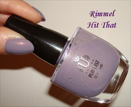 Swatches of Rimmel Hit That Polish