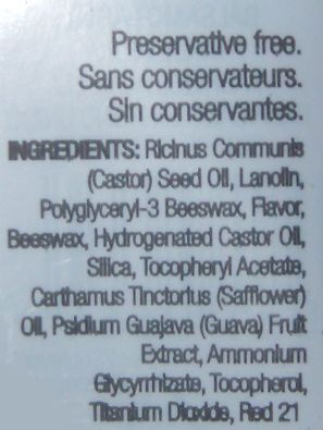 Ingredients of The Body Shop Born Lippy Pink Guava Lip Balm
