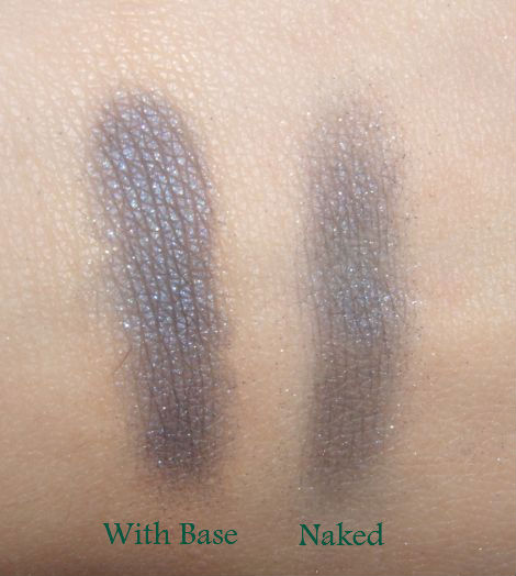 Swatches of NYX Eyeshadow Base Skin Tone