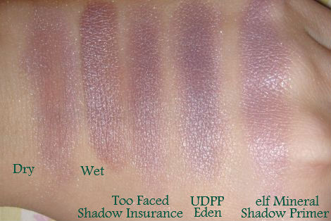 elf Girly Mineral Eyeshadow Swatches