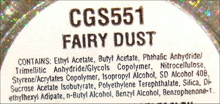 China Glaze Fairy Dust Ingredients
