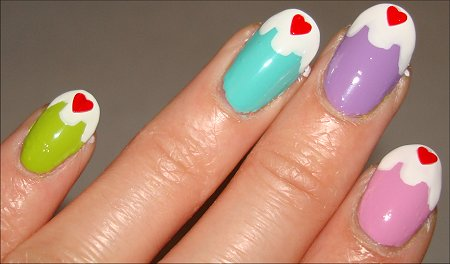Cupcake Nail-Art Tutorial