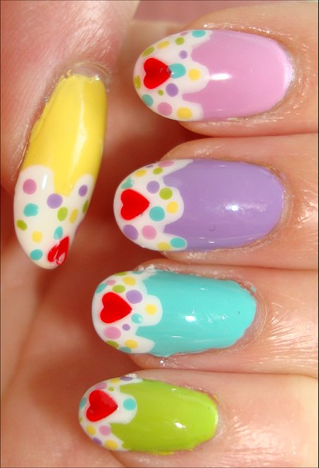 Cupcake Nail Polish Nail Art Tutorial
