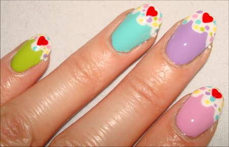 Cupcake Nail Tutorial & Pictures