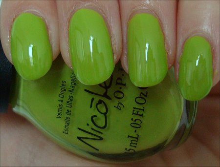 Nicole by OPI Daffy Dill Swatches & Review