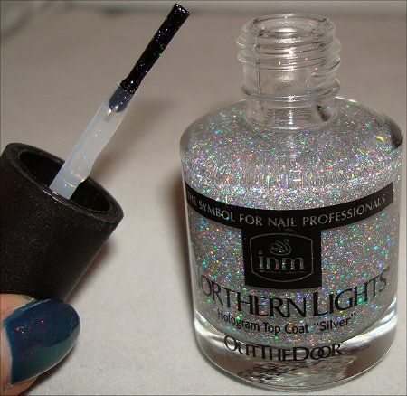 Out The Door Northern Lights Hologram Topcoat Silver