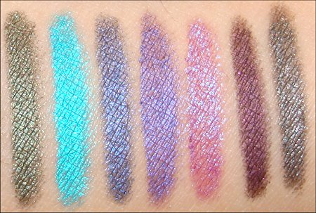 Urban Decay 24-7 Eyeliner Swatches