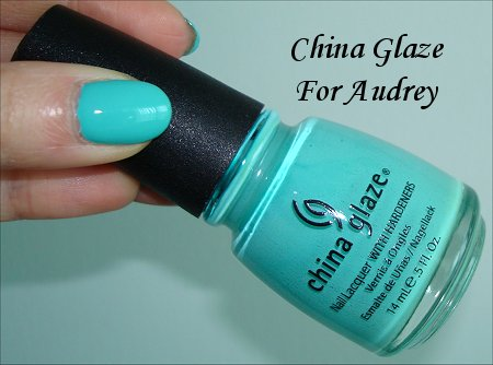 For Audrey China Glaze Swatch & Review
