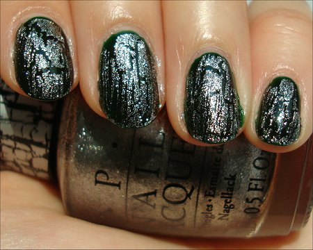OPI Pirates of the Caribbean Silver Shatter Swatches & Review