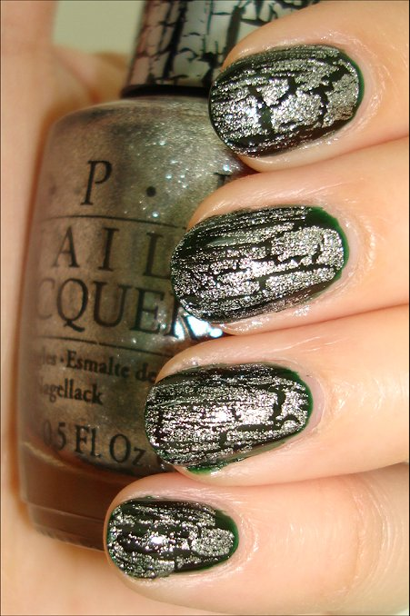 OPI Silver Shatter Swatches