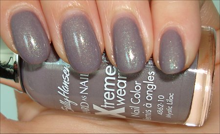 Sally Hansen Xtreme Wear Mystic Lilac Swatches & Review