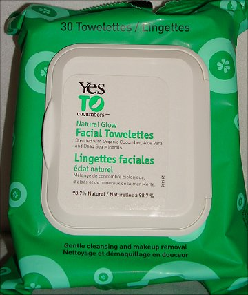 Yes to Cucumbers Natural Glow Facial Towelettes Review & Pictures