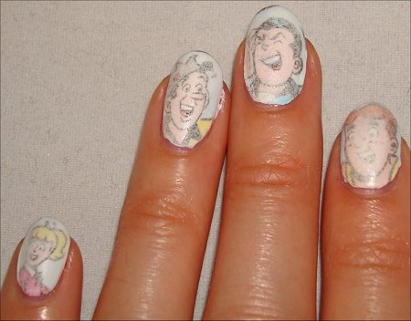 Newspaper Comic Nails Archie Comic Nails Tutorial