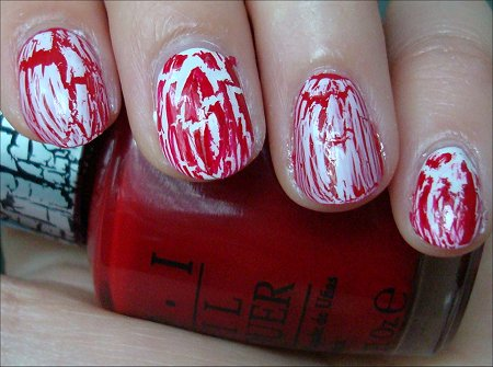 Canada Day Nails Using OPI Shatter Polishes