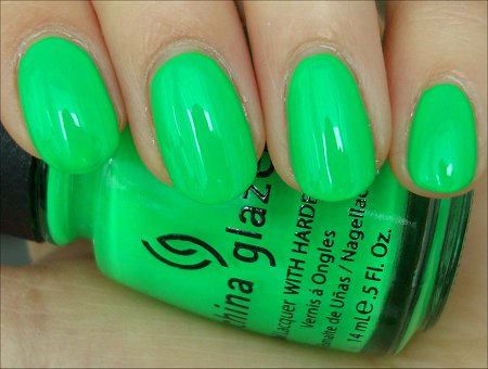 China Glaze Kiwi Cool-Ada Swatch & Review