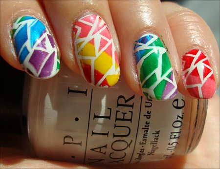 Crackle Rainbow Nail Art Tutorial