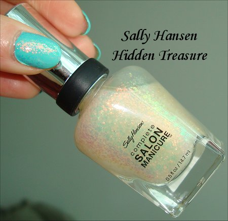 Hidden Treasure Flakie Polish by Sally Hansen Review & Swatches