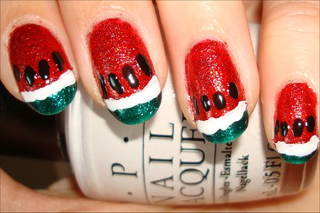 How to Create Watermelon Nail Art Tutorial
