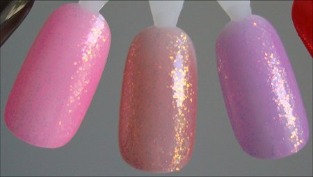 KleanColor 228 Candy Swatches, KleanColor 229 Poppy Swatches & KleanColor 230 Fuschia Swatches