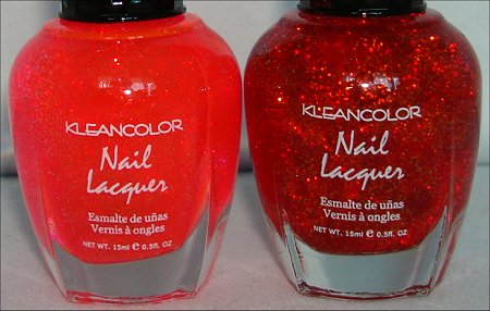 KleanColor Chunky Holo Candy & KleanColor Chunky Holo Poppy Pictures